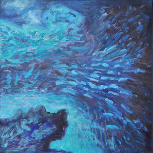 "2011-2016 Oil on canvas 36"" x 36"" frame size 37.5"" x 37.5"""